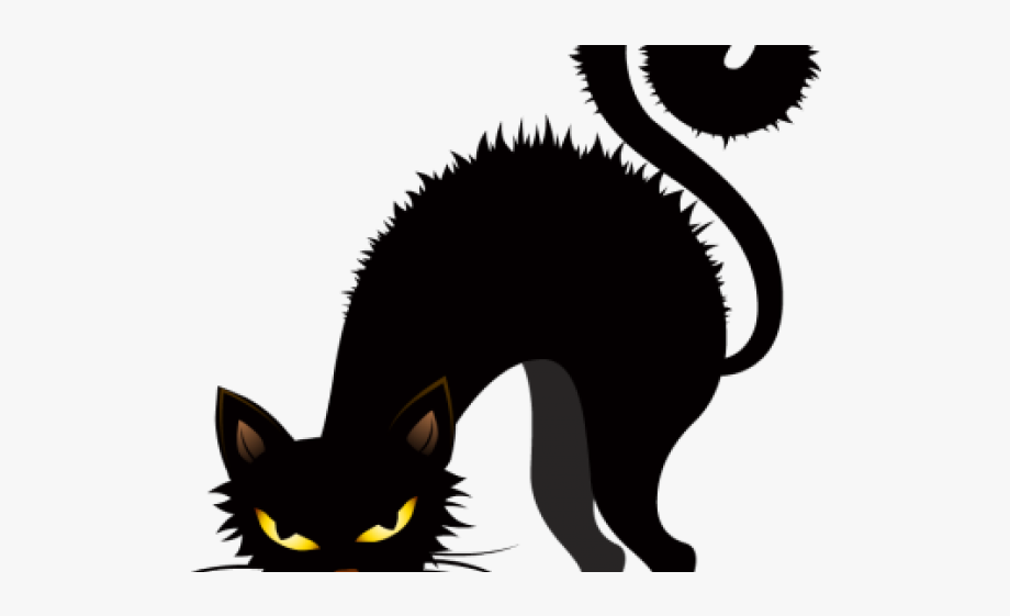 Creepy Clipart Black Cat