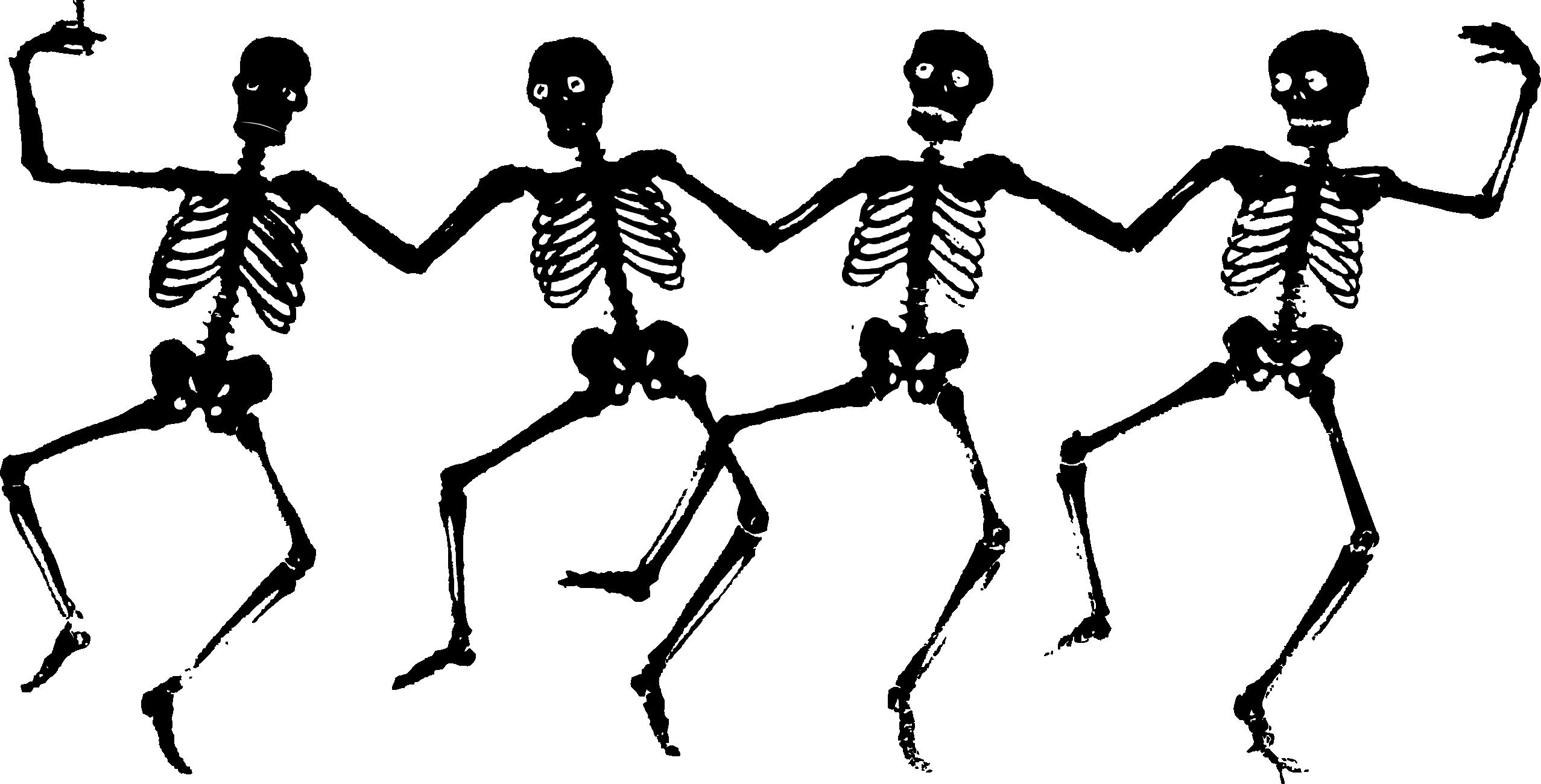 Dancing Black Skeletons