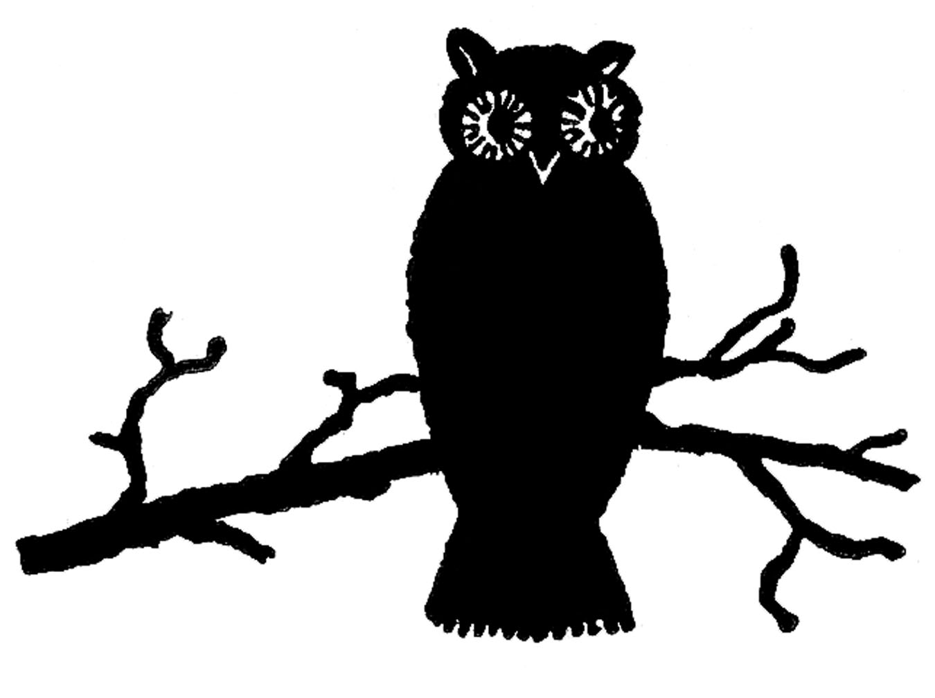 fall clipart black and white silhouette
