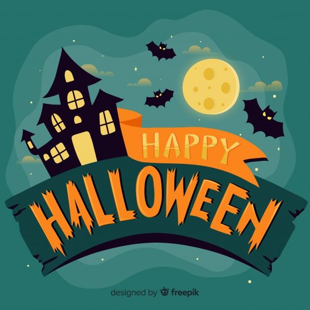 Modern happy halloween lettering Vector