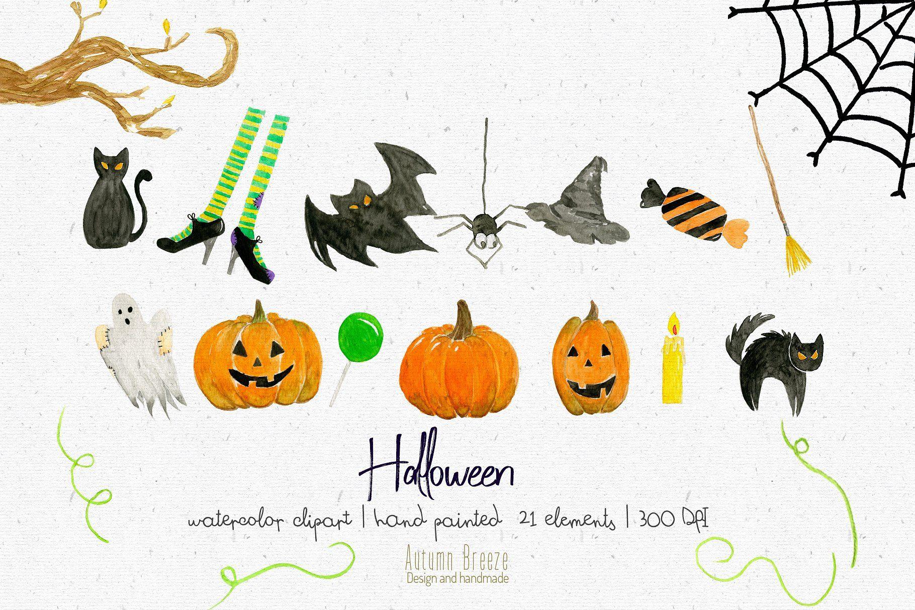 Halloween clipart autumn.