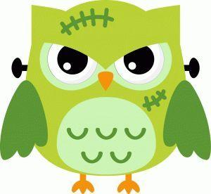 Halloween owl clip.