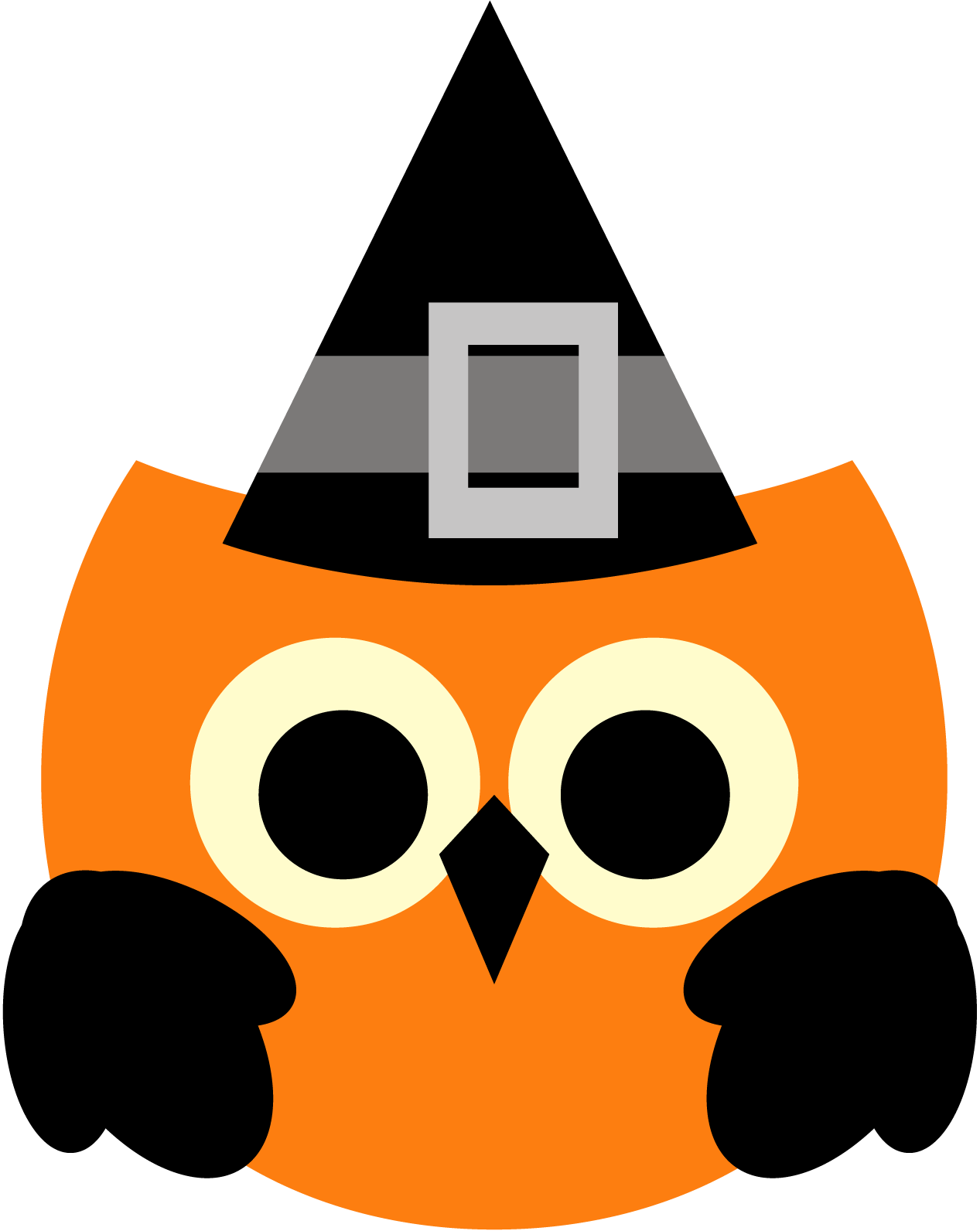 Owl halloween clipart freebie