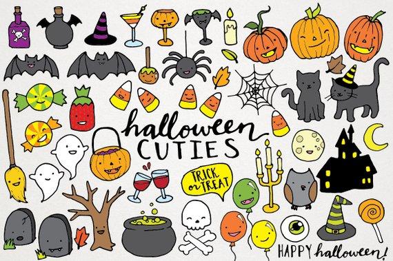 Printable halloween clipart.