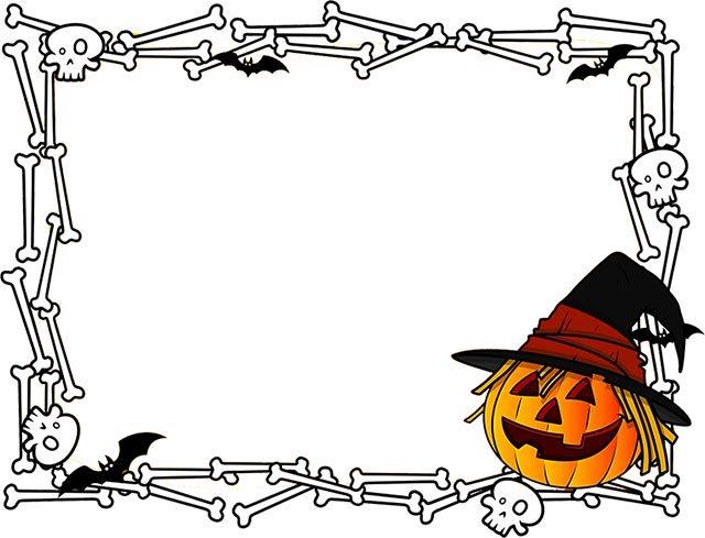 Free printable halloween clipart border