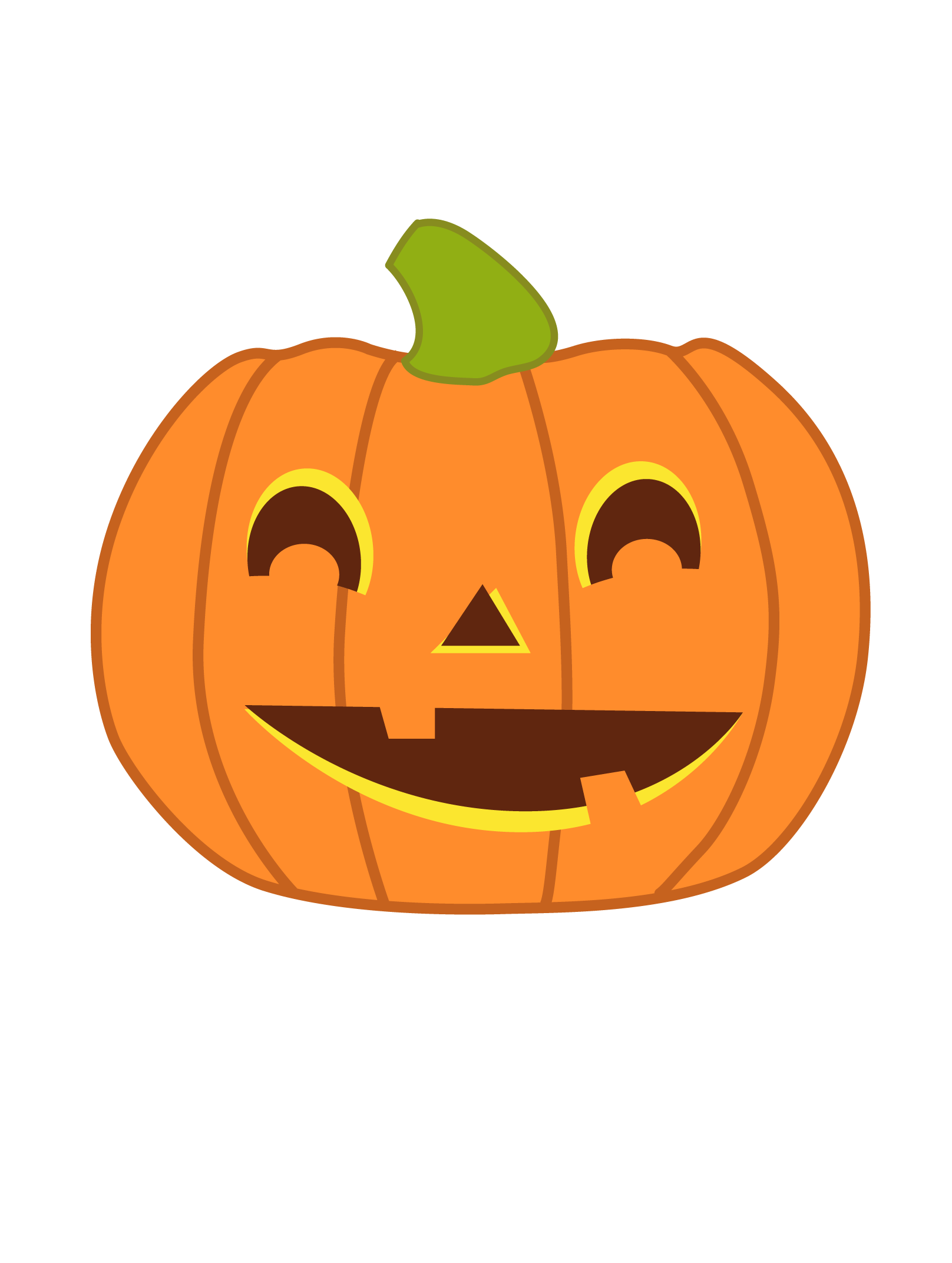 Cute halloween pumpkin.