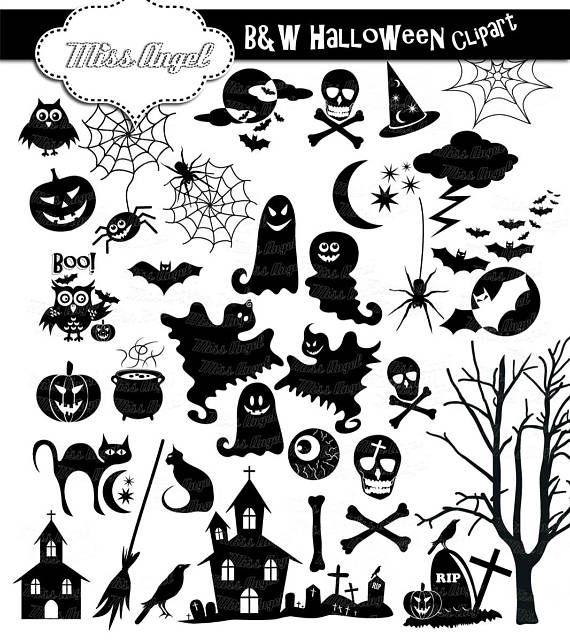 Halloween silhouettes clip.
