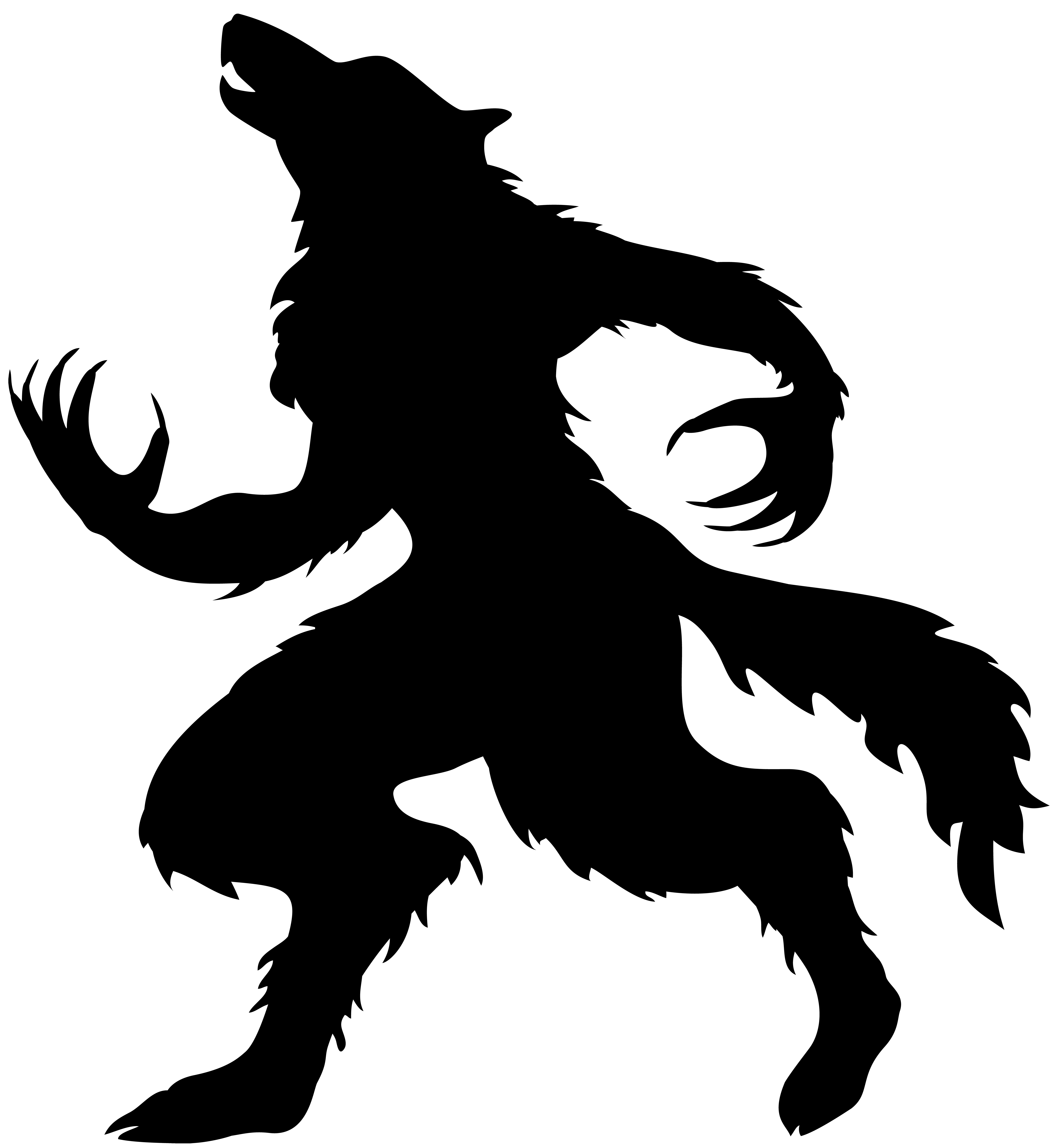 Halloween Werewolf Silhouette PNG Clip Art Image