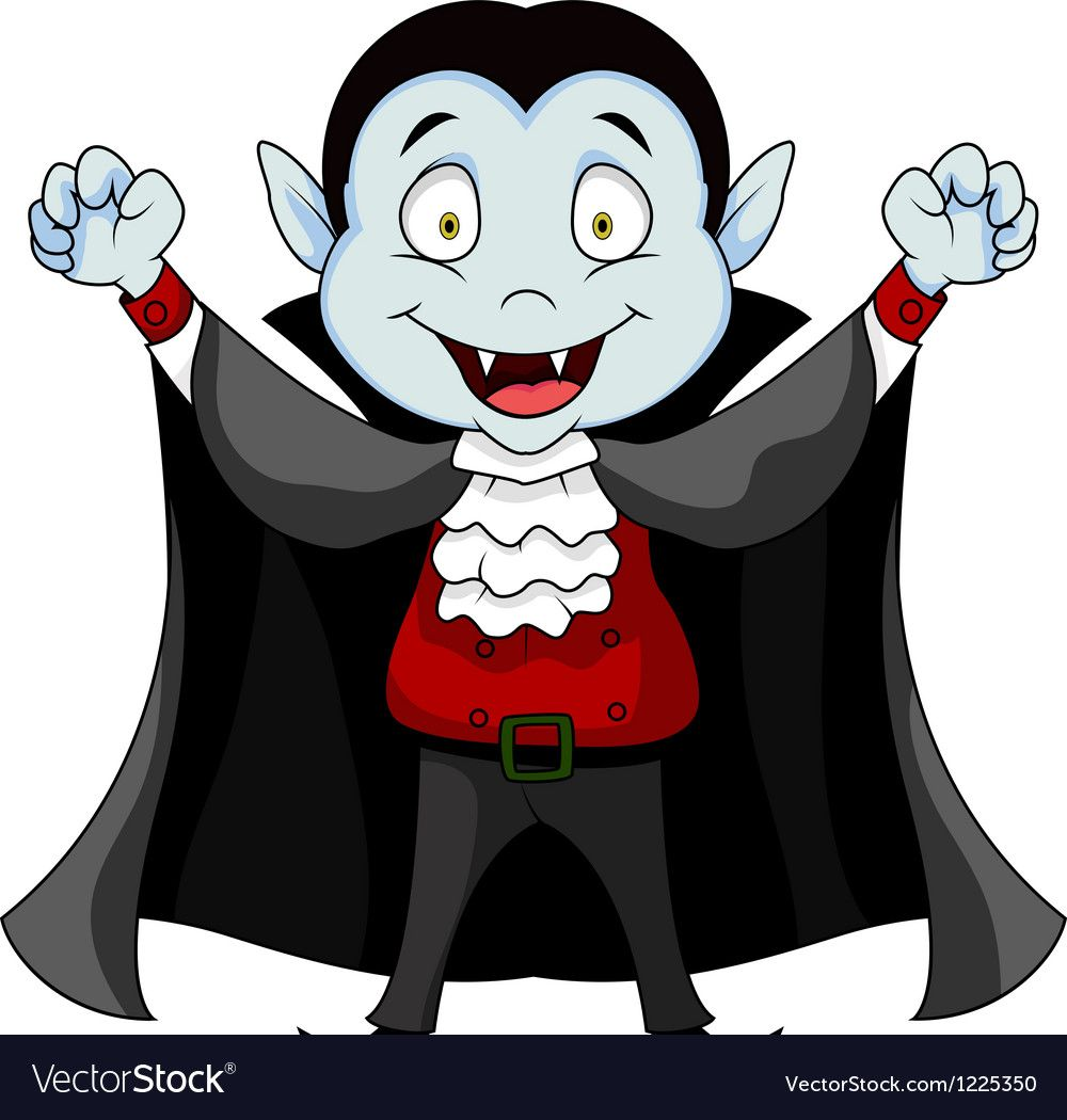 Funny vampire cartoon.