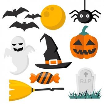 Halloween vectors 44000.