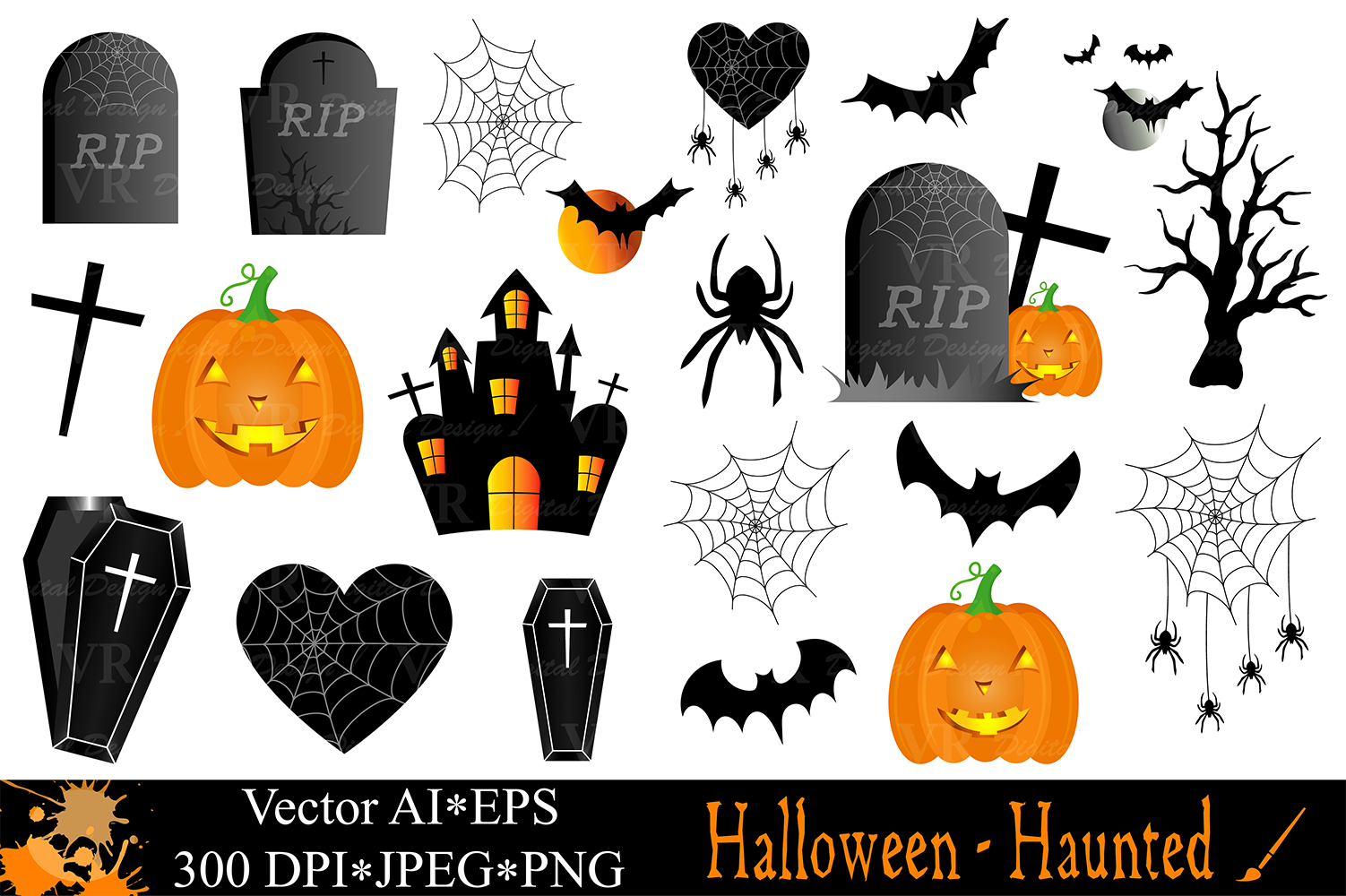 Halloween clipart with.