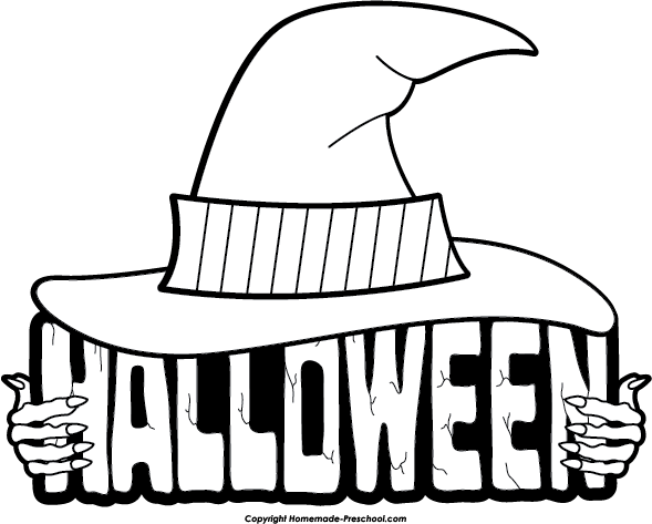 Halloween black and white halloween clipart black and white