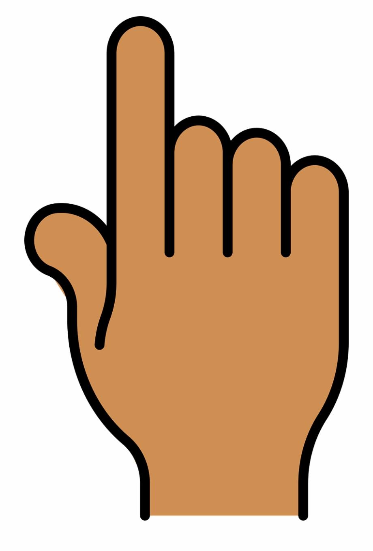 Index finger pointer.