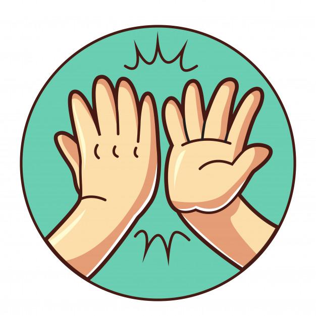 High five hand.