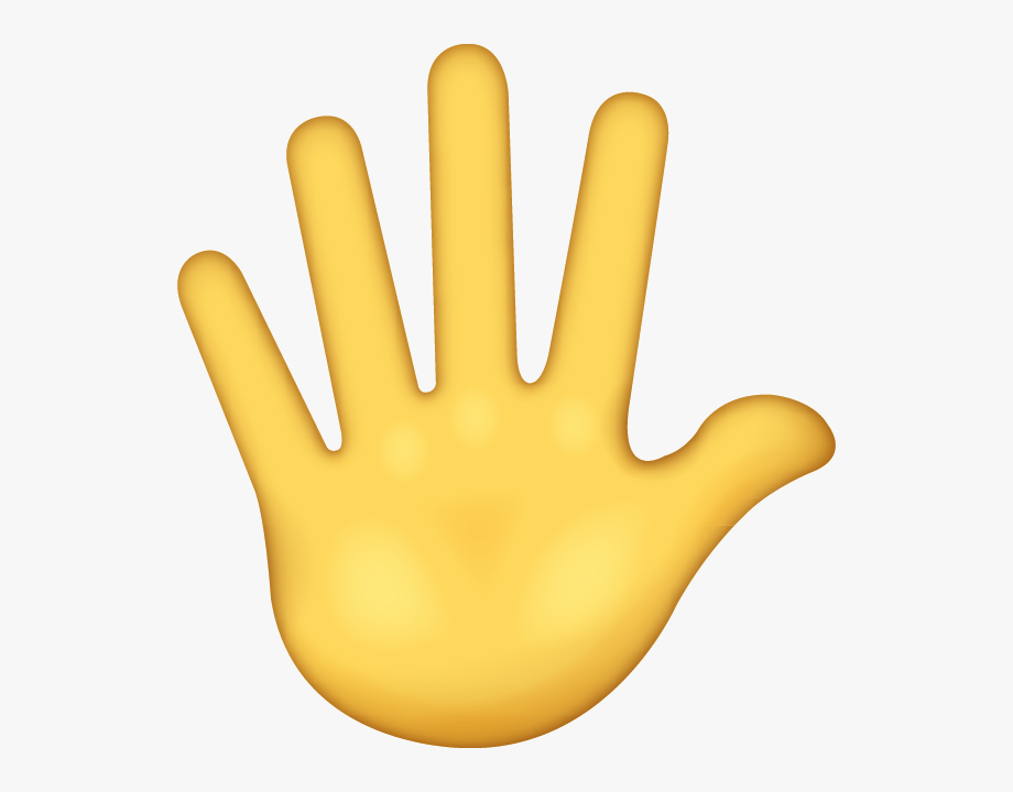 Hand emoji clipart.
