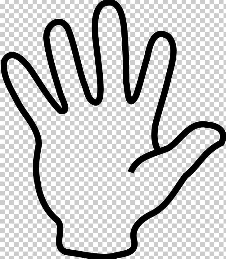 The finger high.