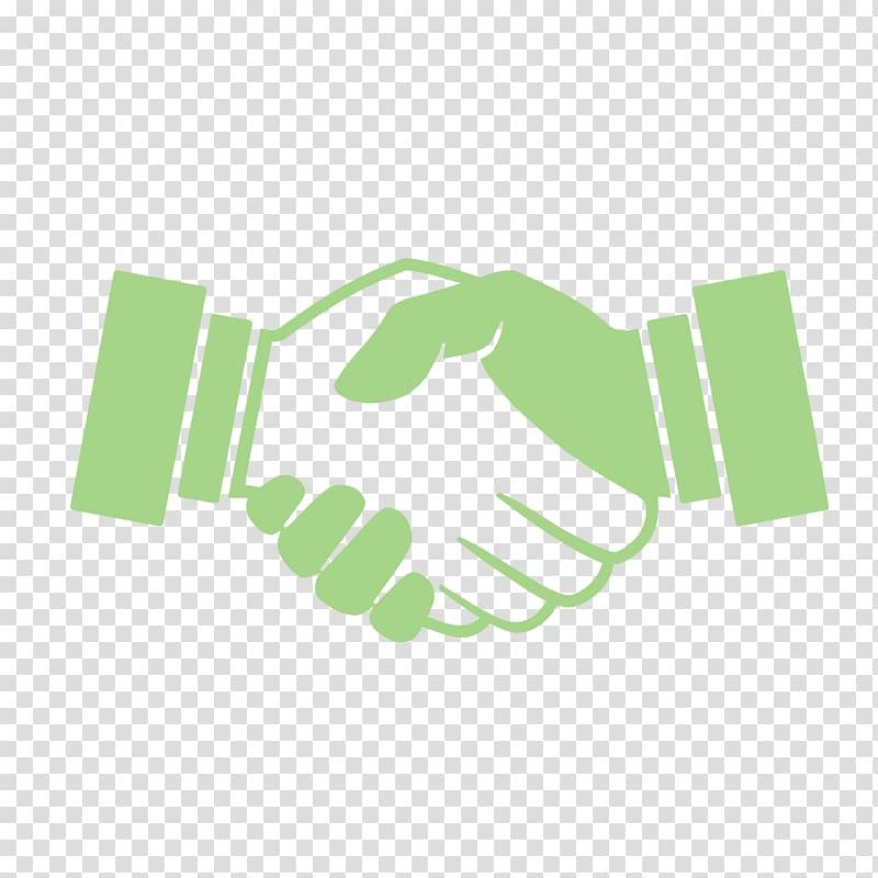 Green hand shake.