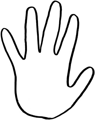 71 hand outline.