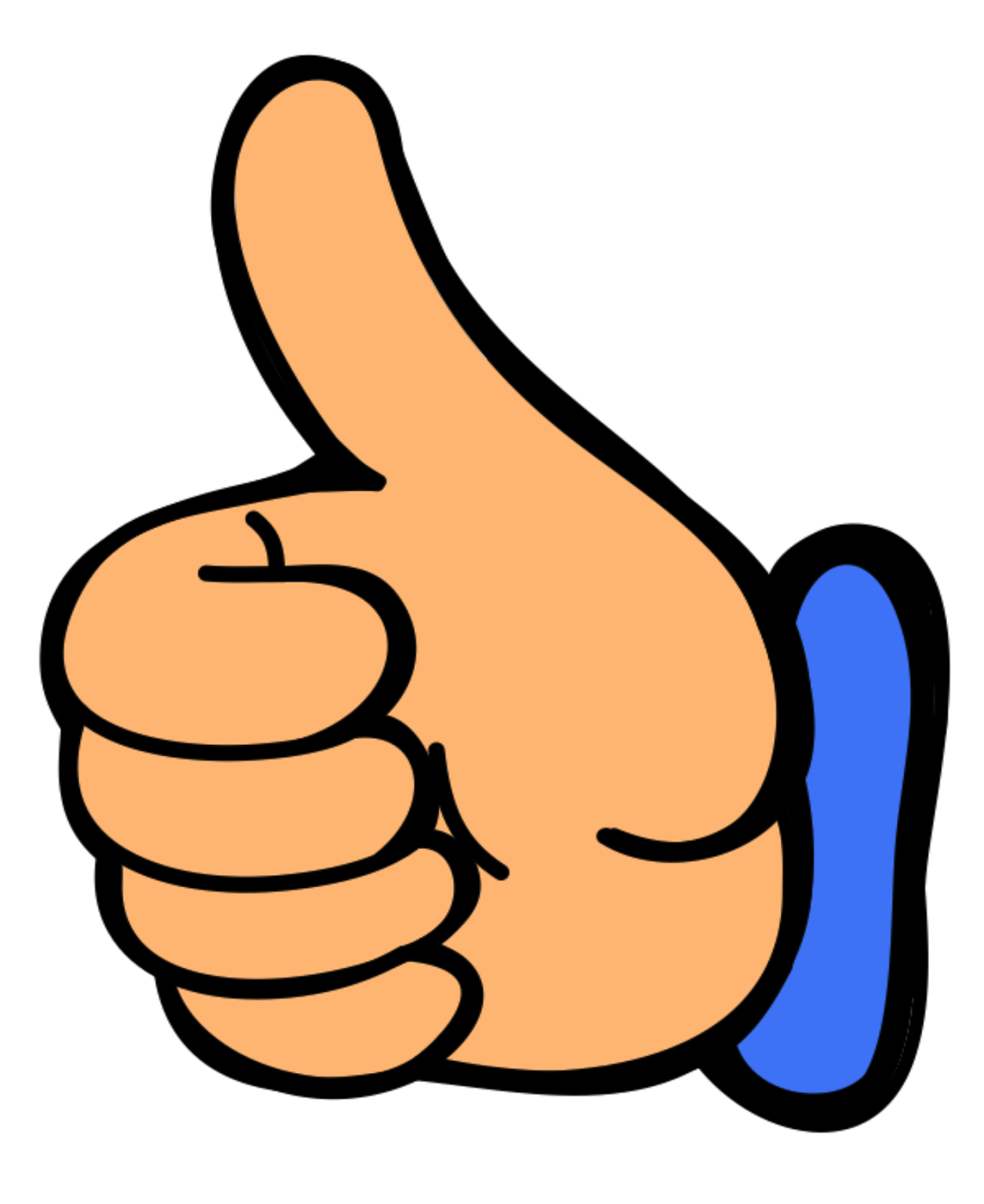 thumbs up clipart right hand