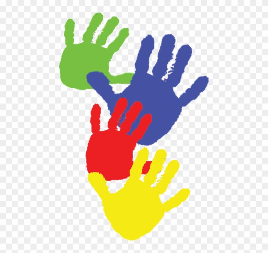 Paint handprints kids.