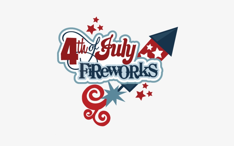 July fireworks clipart.