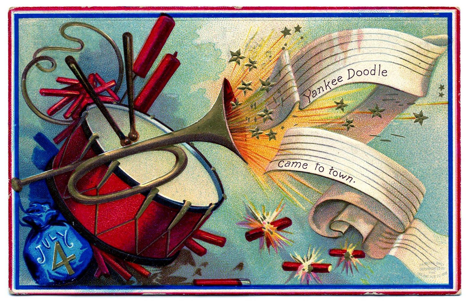 Vintage patriotic clip.
