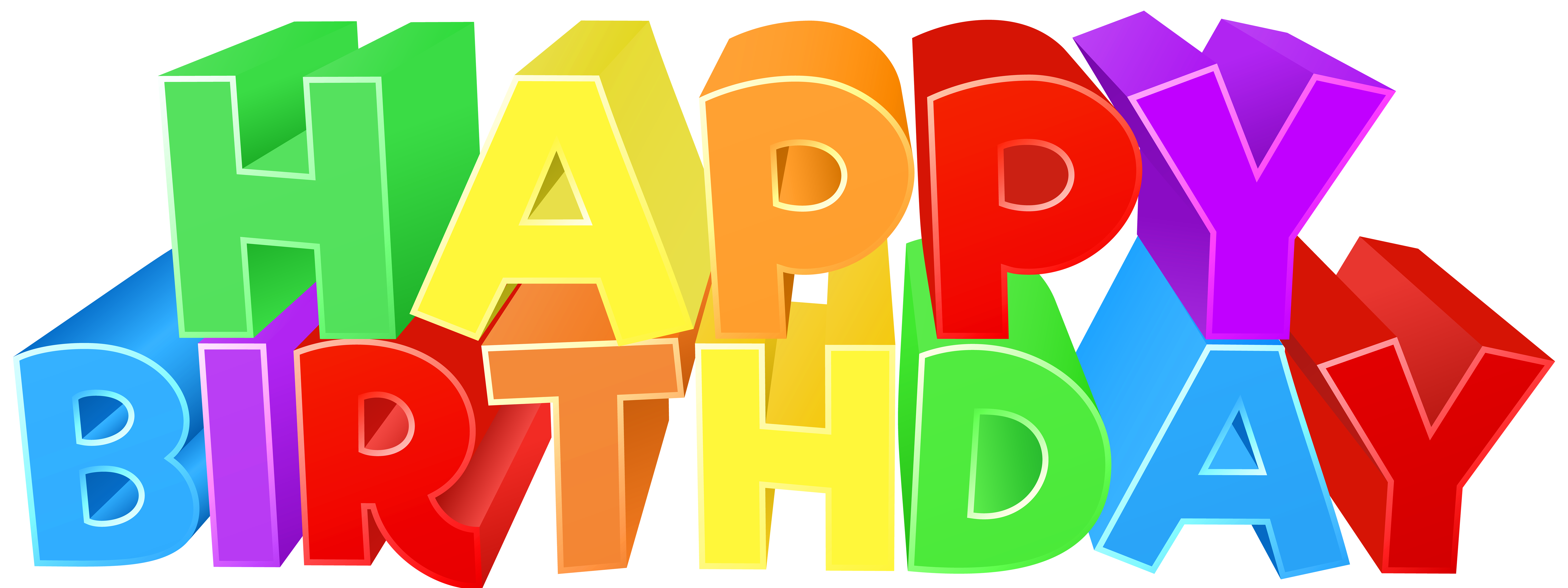free birthday clipart colorful