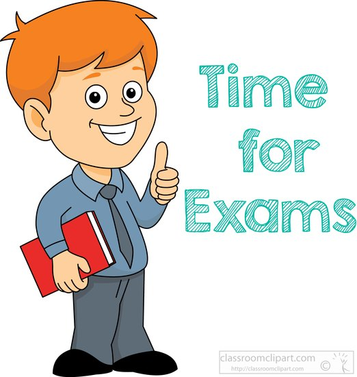 Time for exam.