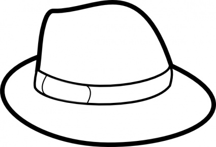 Hat black and.