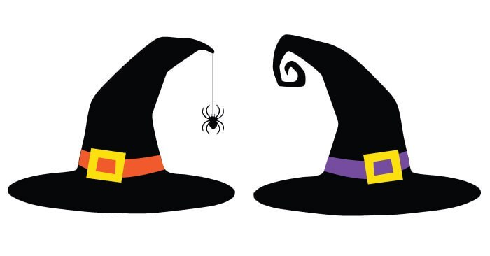 Witch hat cut.