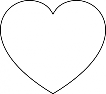 Clipart Heart Black And White