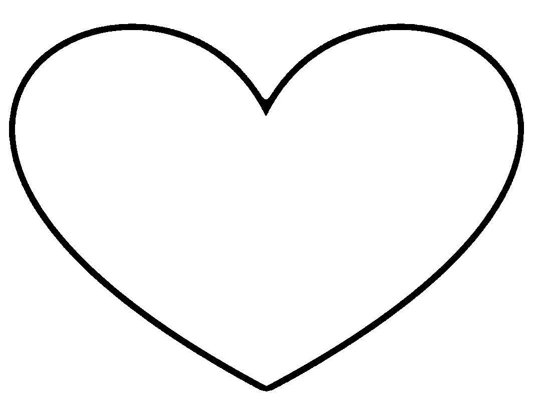 Black heart heart clip art black and white free clipart