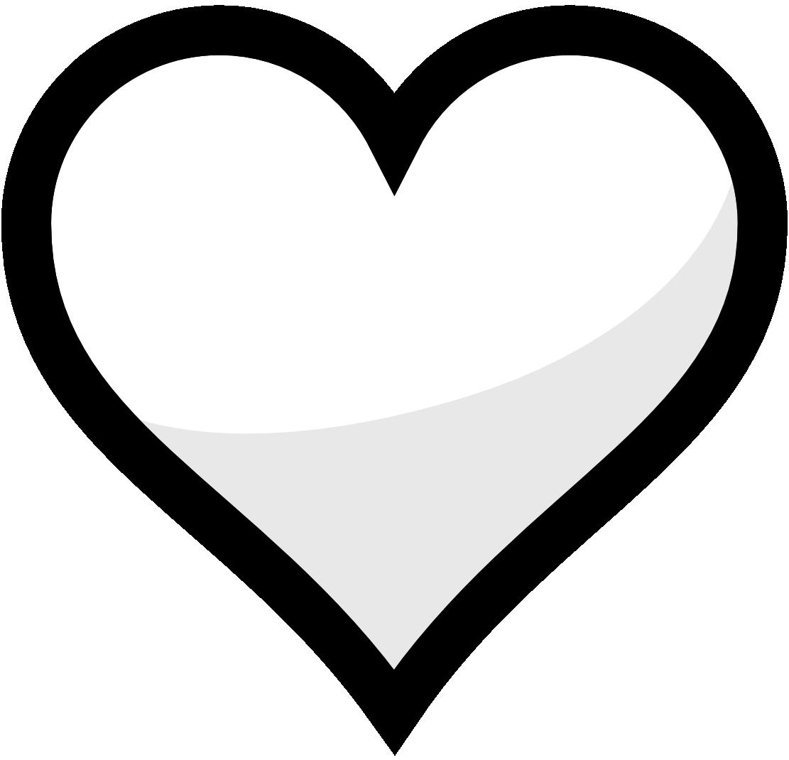 Clipart heart black.