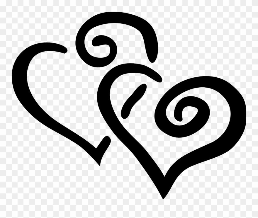 Hearts design swirl.