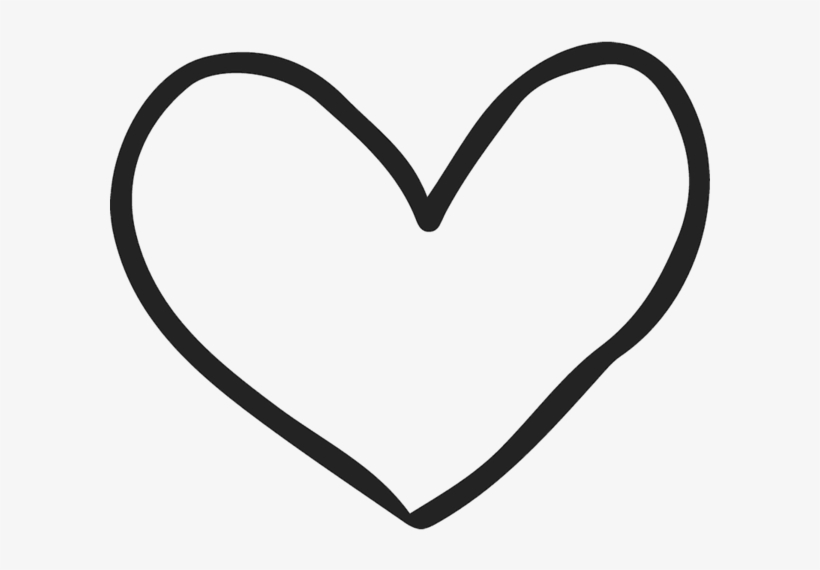 Drawn hearts white.