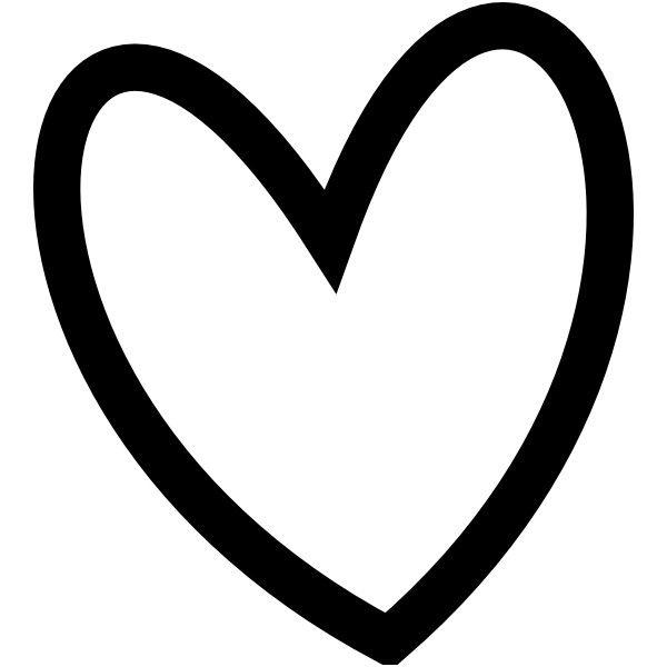 Pin heart clipart.