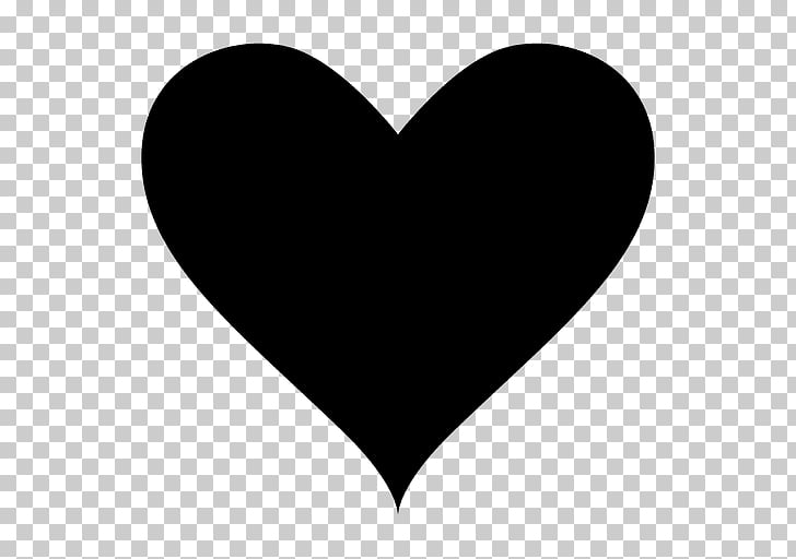 Heart silhouette black.