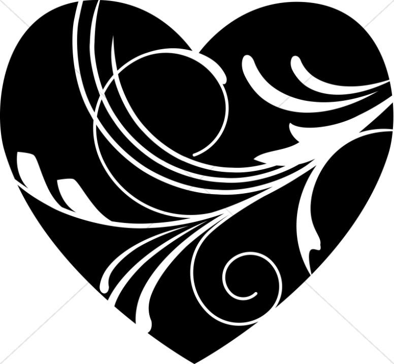 Black heart black.