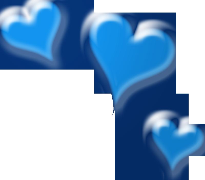 Blue heart clip.