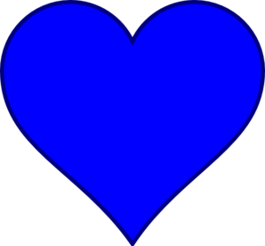 Blue Heart Clip Art at Clker
