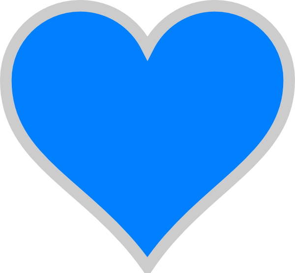 Blue heart transparent.