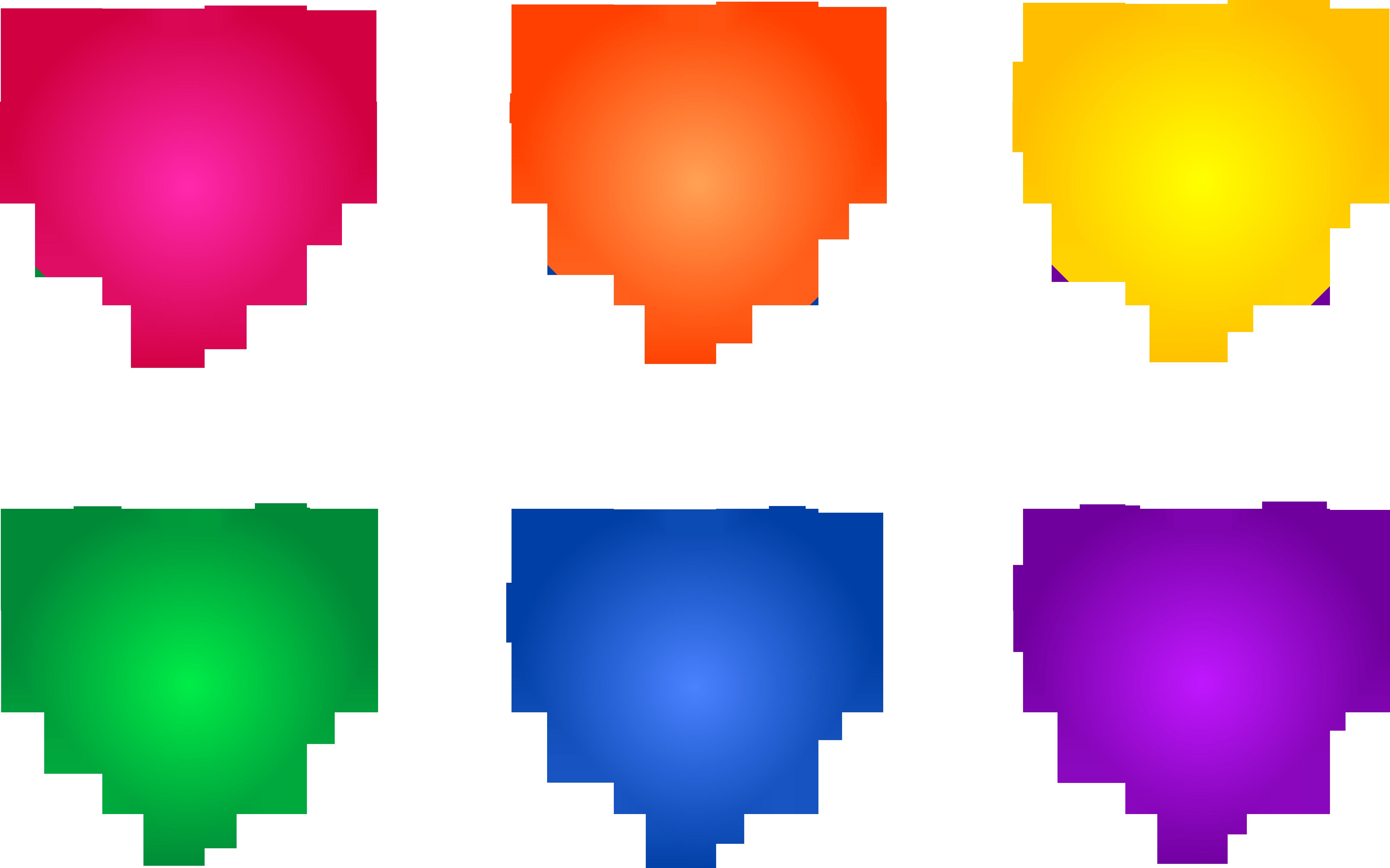Colorful rainbow heart.