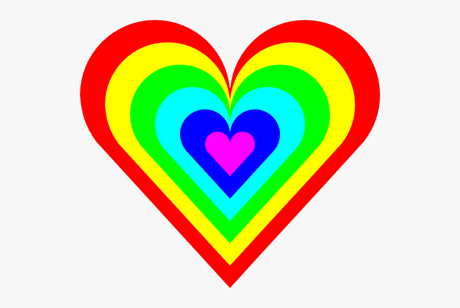 Colorful heart clipart.