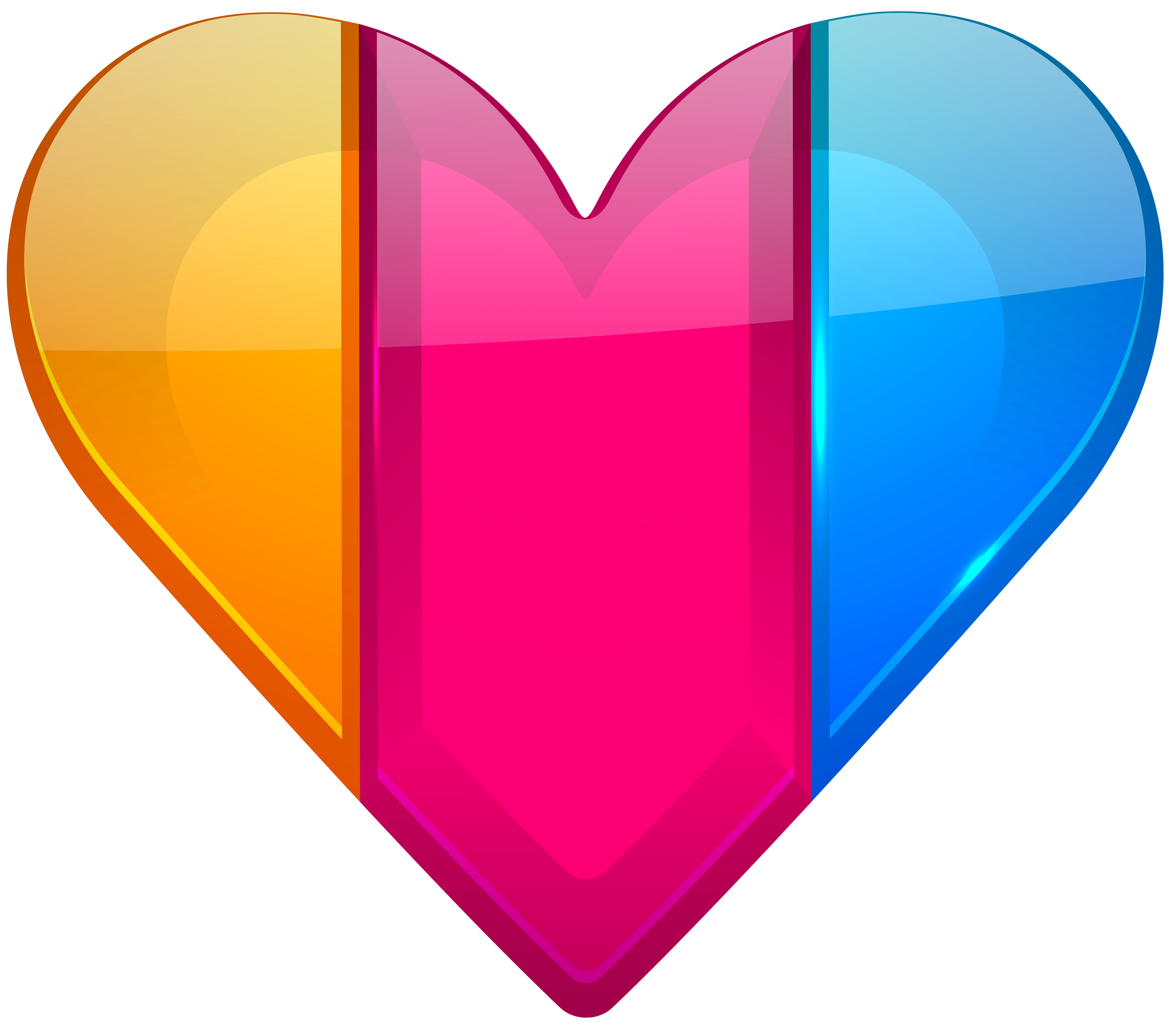 Colorful heart png.