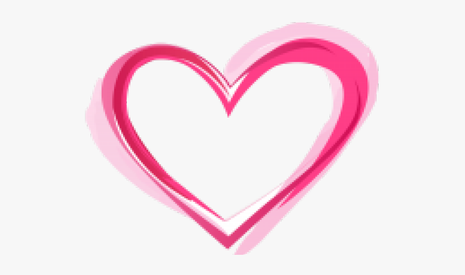 Funky Clipart Cute Heart Outline