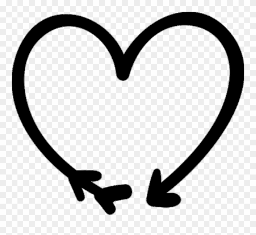 Heart doodle png.