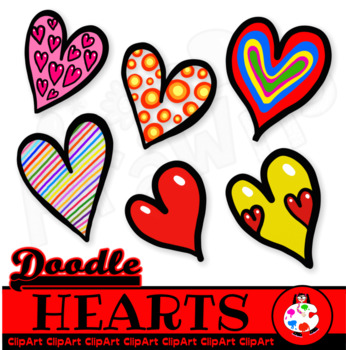 Doodle Love Hearts