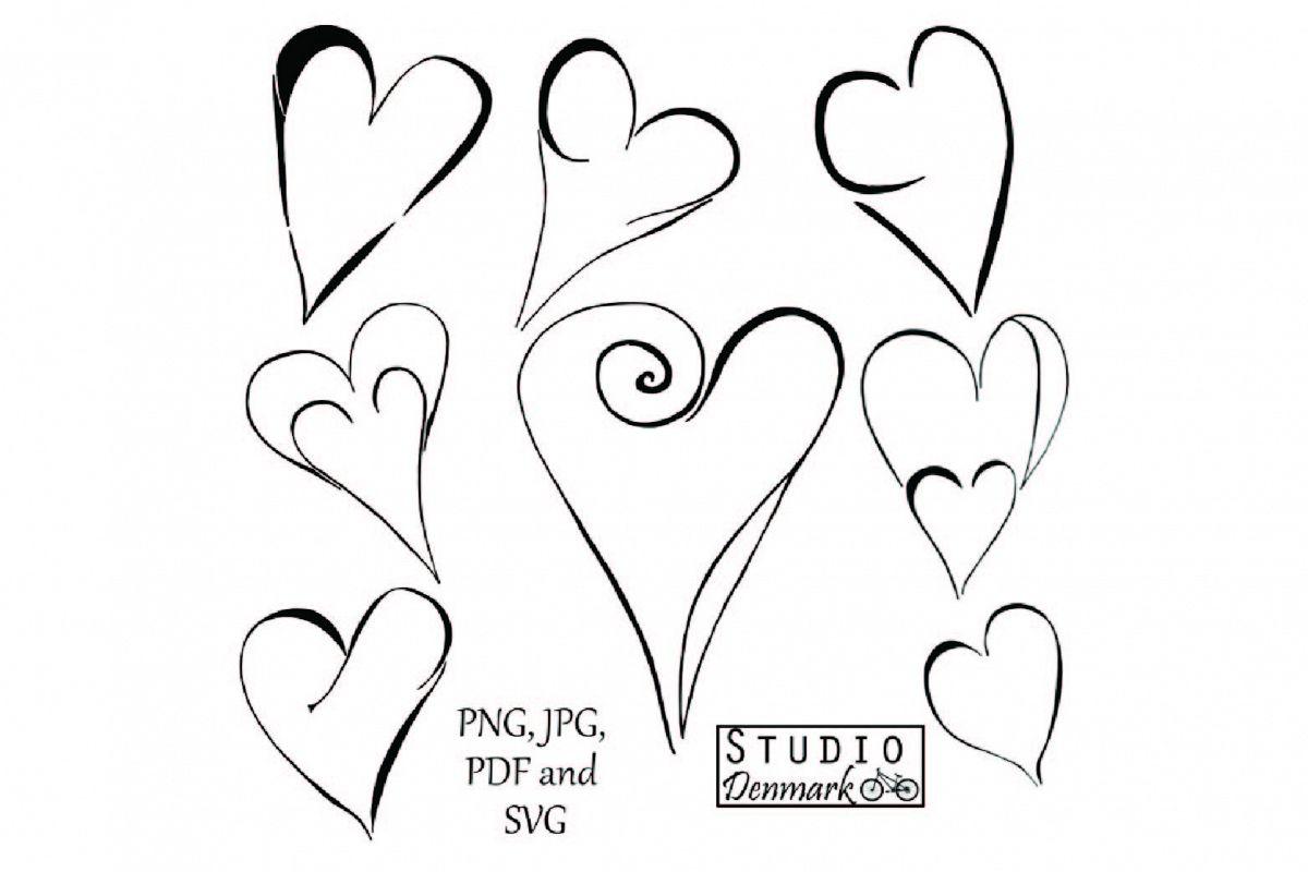 Doodle Hearts Clipart Set
