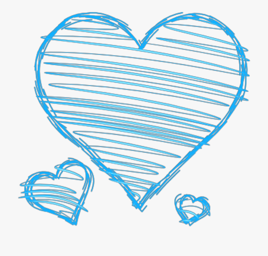 Doodle hearts png.