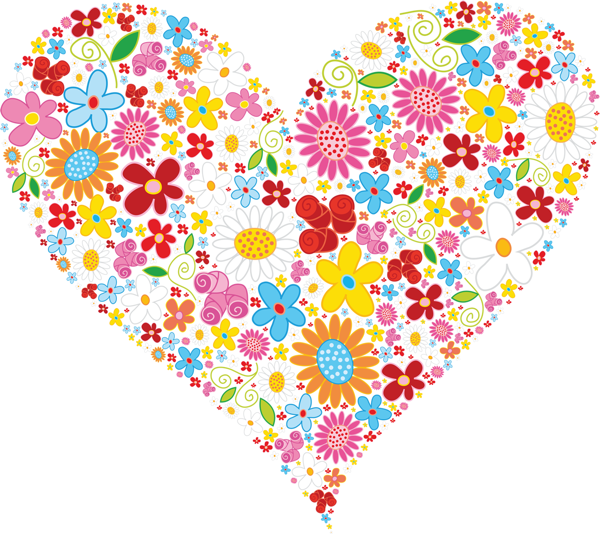 Free Heart Flower Cliparts, Download Free Clip Art, Free